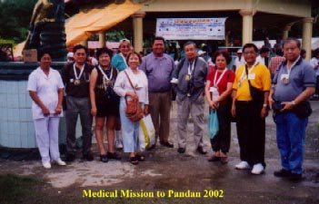 Medical Mission to Pandan 2002